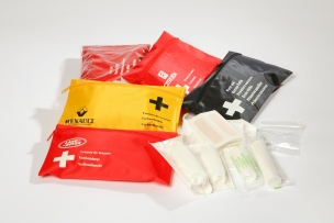 First aid set with legal content